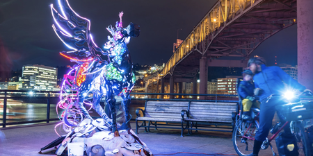 Portland Winter Light (non)Festival begins Friday February 5, illuminating dozens of art installations across the city
